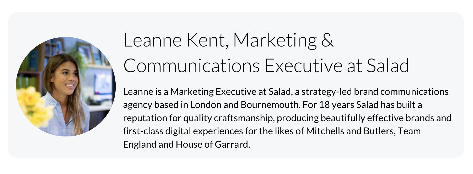 Leanne Kent, Salad