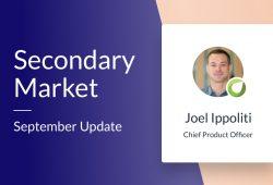 Secondary Market – September update