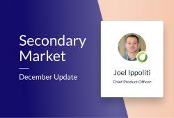 Secondary Market – December Update